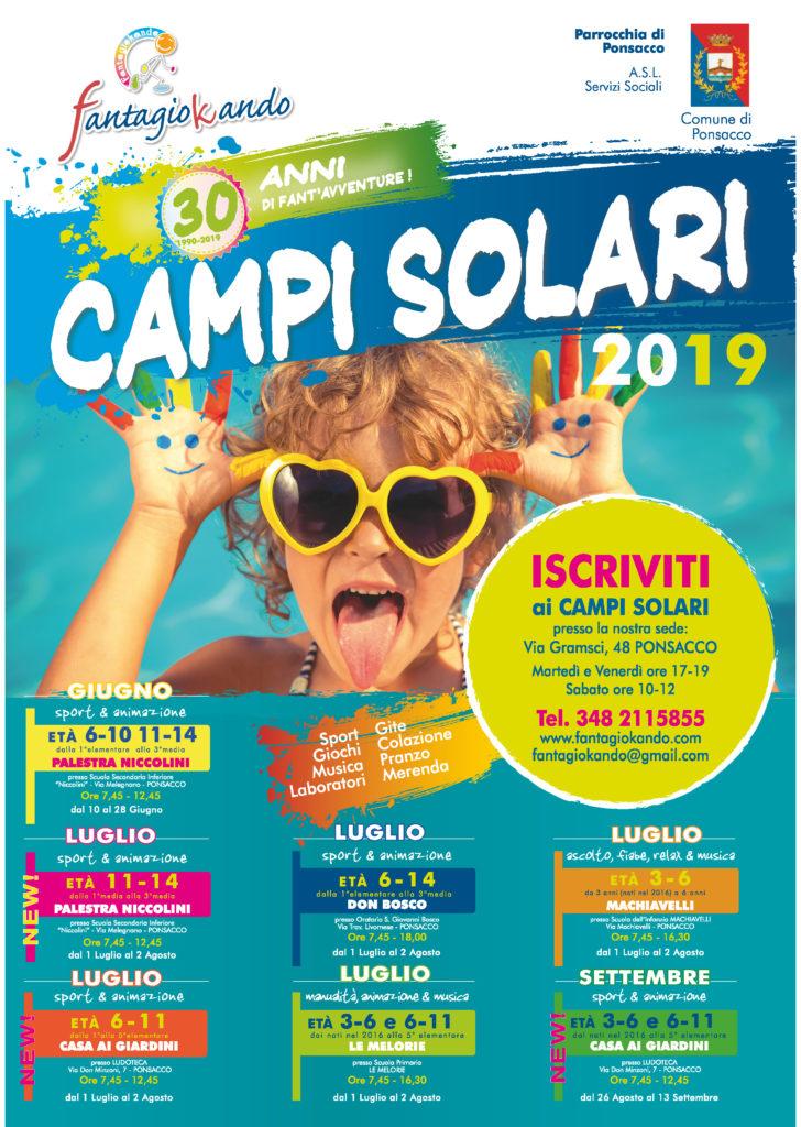 Campi Solari 2019 - Ponsacco - FANTAGIOKANDO